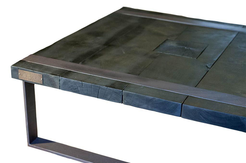 L\u0027art du bois brûlé (Shou sugi ban) meuble en bois et métal par l