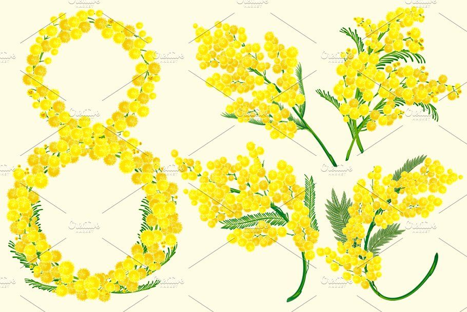 Yellow Acacia Blossom Branch Flower Affiliate Clip Flower Files Art Ad In 2020 Flower Branch Carnation Flower Flowers