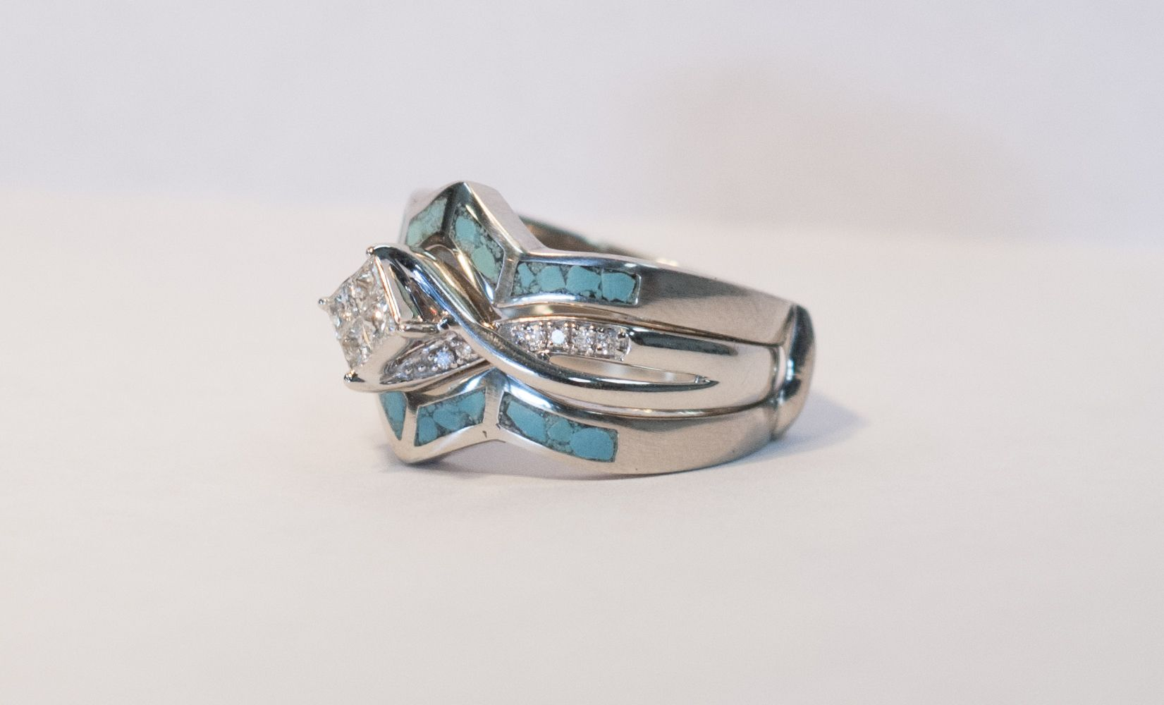 13+ Turquoise wedding ring guard ideas