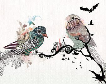 bird sur Etsy, la plateforme de vente internationale du fait main et du vintage.