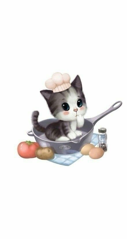 I M So Hungry Daddy Cat Art Illustration Wallpaper Iphone Cute Animal Icon
