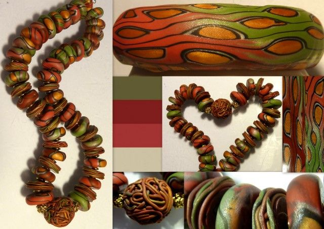 Wonderful colors and design from Fimomaus. #polymer #clay #tutorial