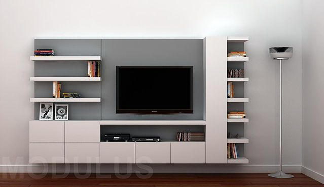modulares para living tv lcd led wall unit muebles