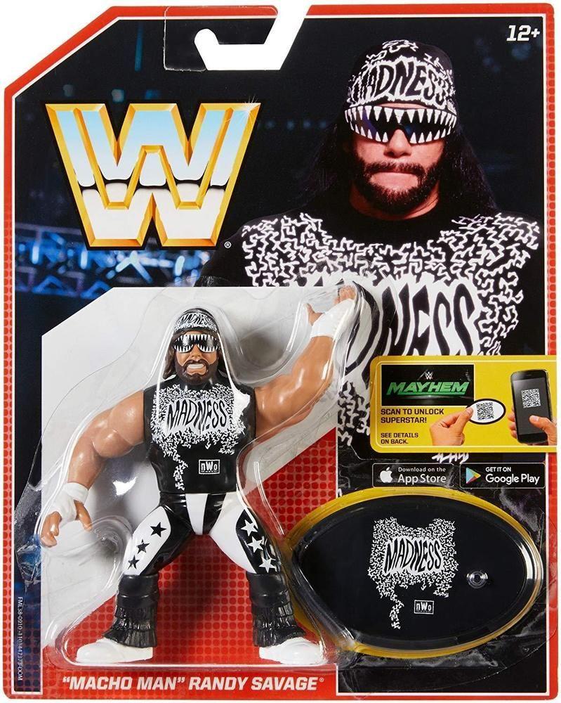 MACHO MAN RANDY SAVAGE RETRO WWE WRESTLING ACTION FIGURE