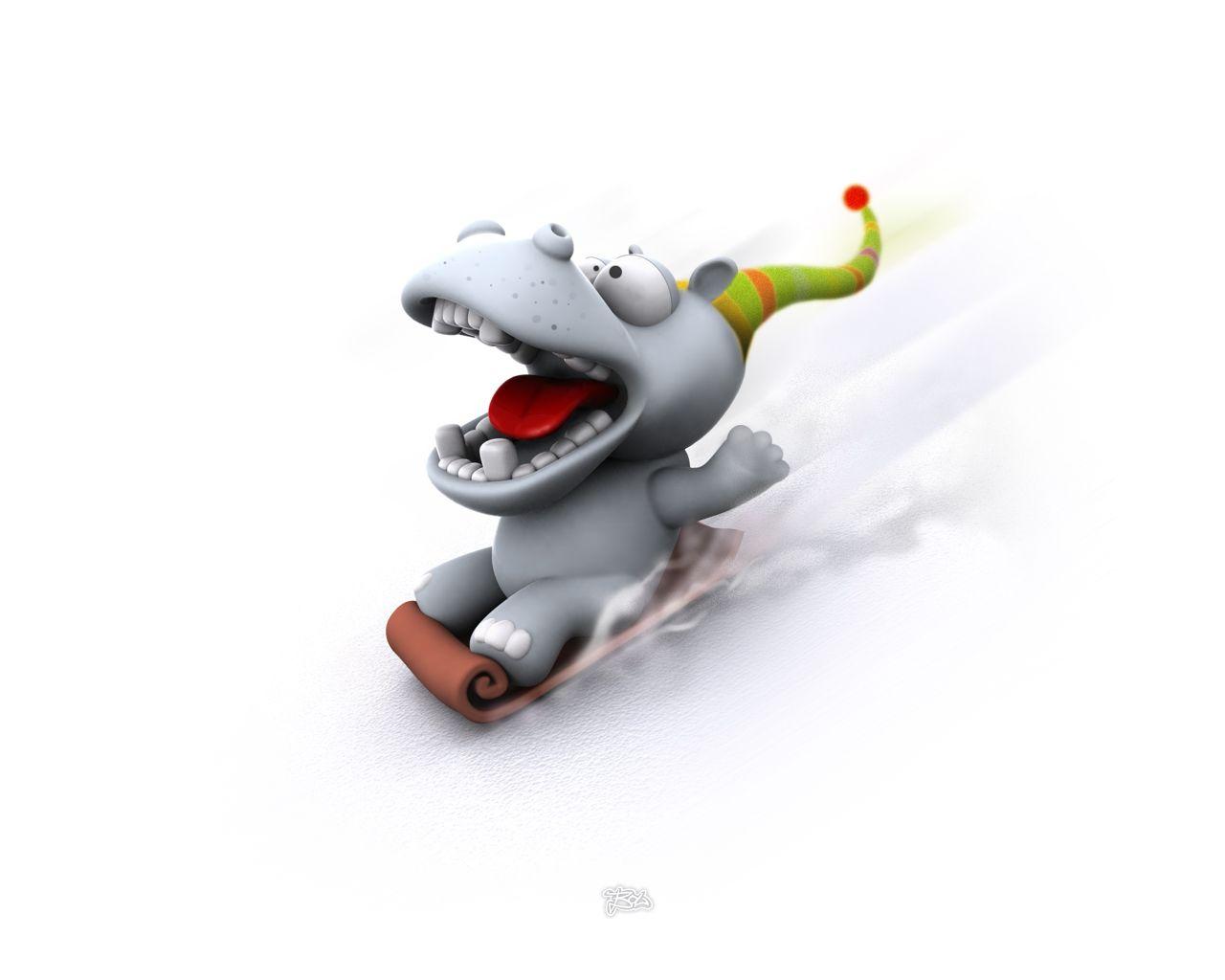 Fun Plannet Funny 3d Wallpapers In 2020 Cute Cartoon Animals Cartoon Hippo Cartoon Wallpaper