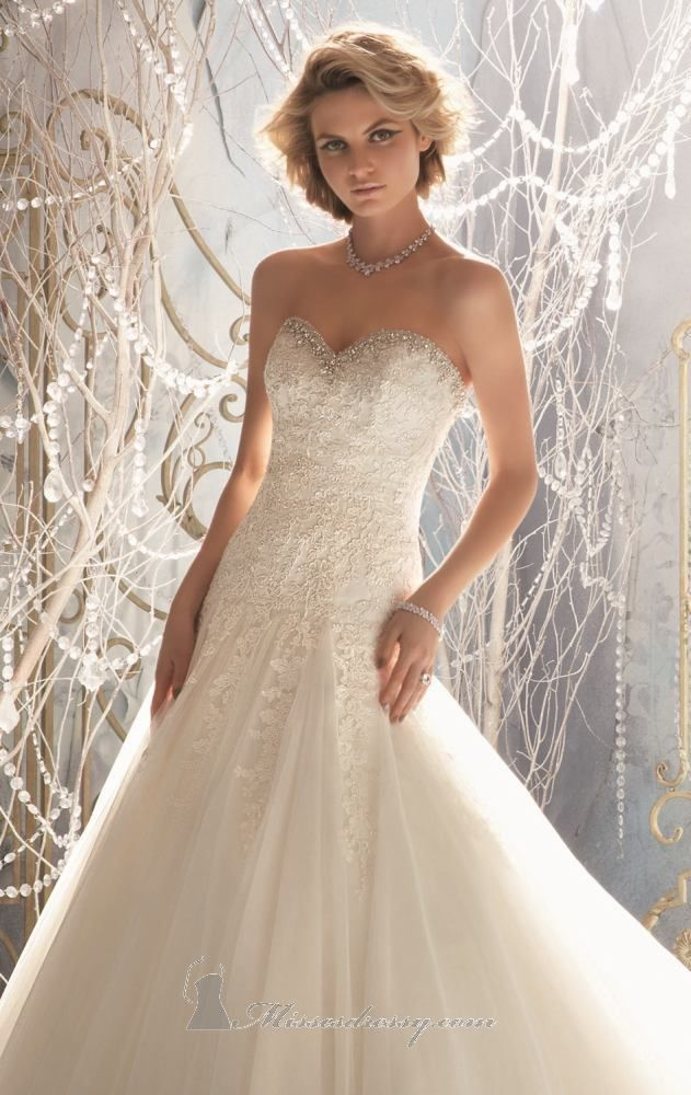 Mori Lee 1964 by Bridal by Mori Lee I love the bottom of the dress ...