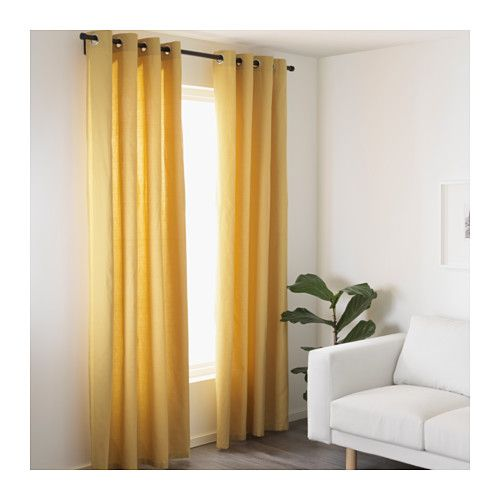 mariam curtains  pair yellow yellow  operation
