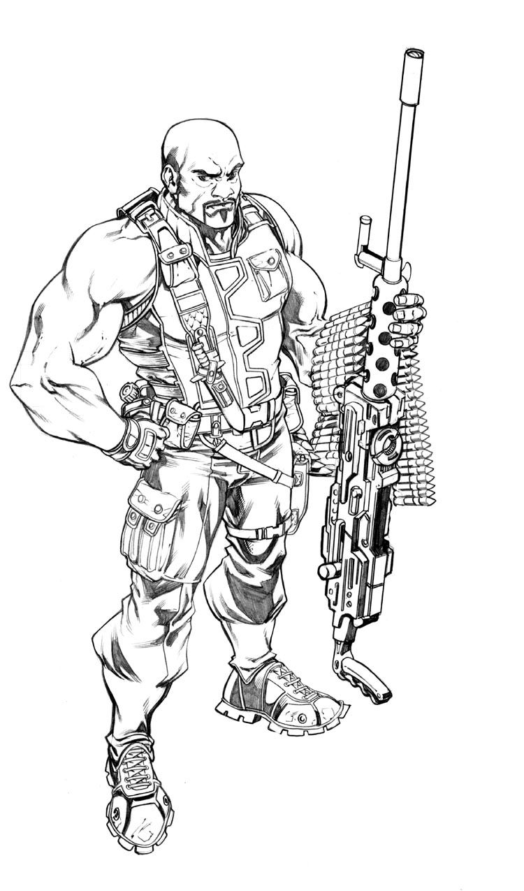 roadblockrobert atkins  comic book artwork character