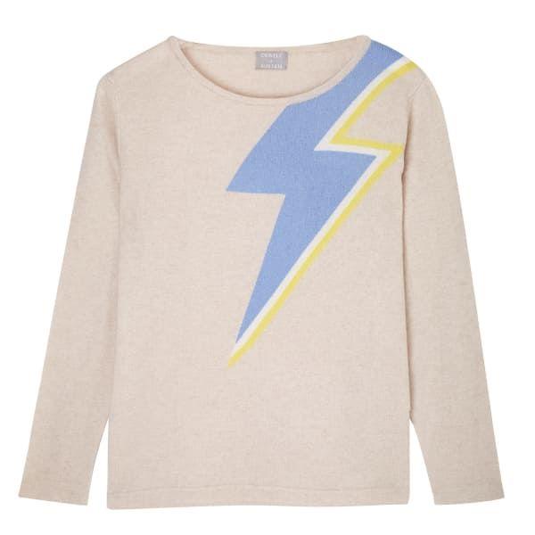 Bowie Sweater in Oatmeal   Orwell + Austen Cashmere   Wolf & Badger  /  Women / Clothing / Knitwear
