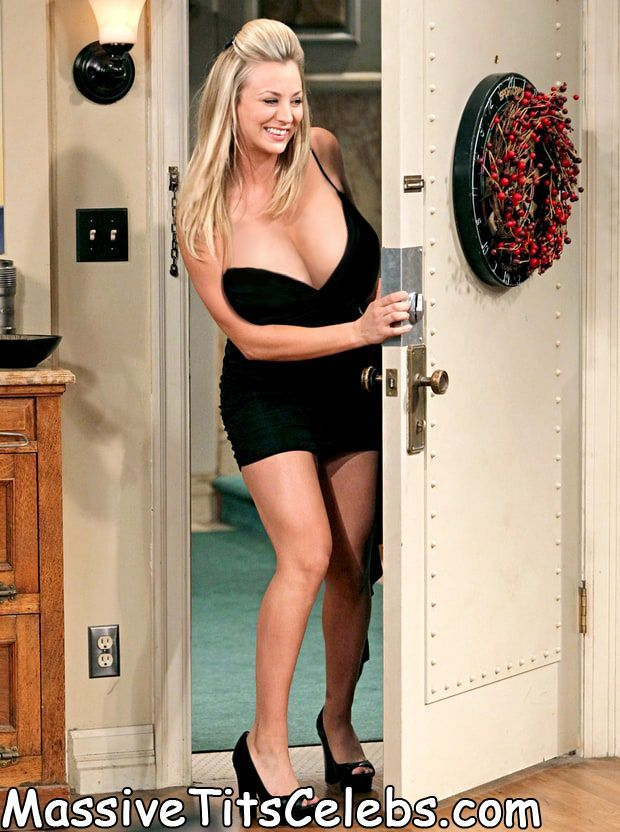 Kaley cuoco boobs tits fake comic big bang theory