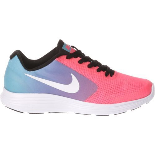 d8e747660184 Nike Girls  Revolution 3 Running Shoes (Chlorine Blue White Racer  Pink Black