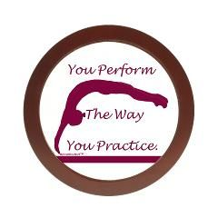 Gymnastics Jewelry or CD Case... You perform the way you practice... Get it at www.GymnasticsTees.com