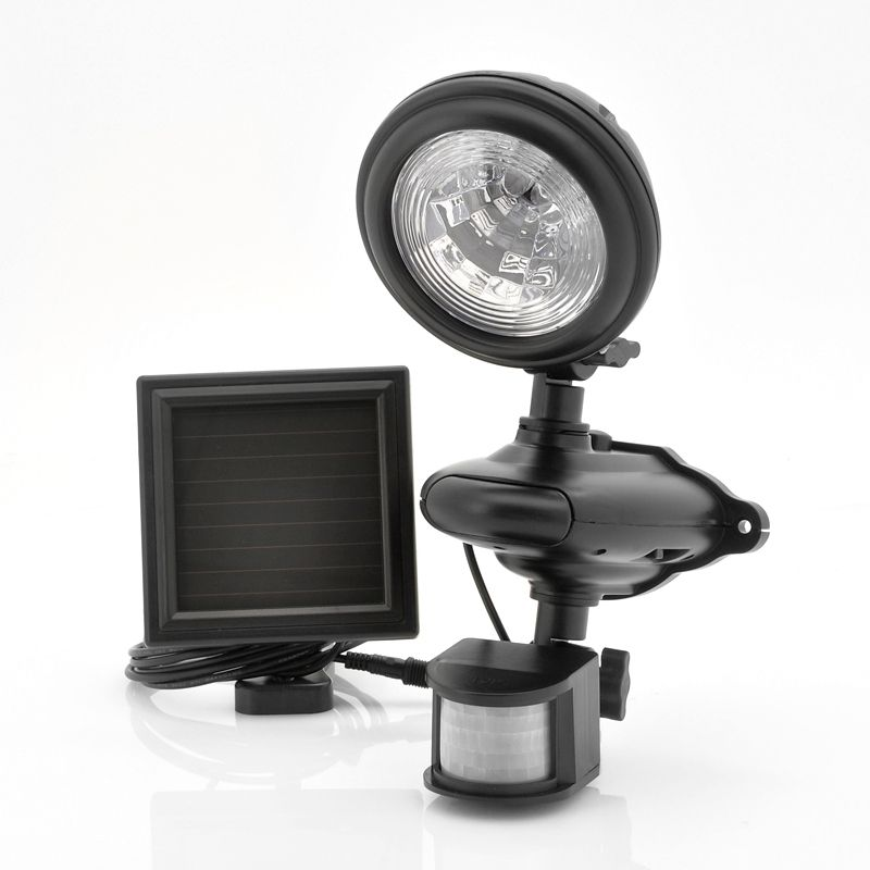 Powered by the sun, this security LED light offers a wire-free ...