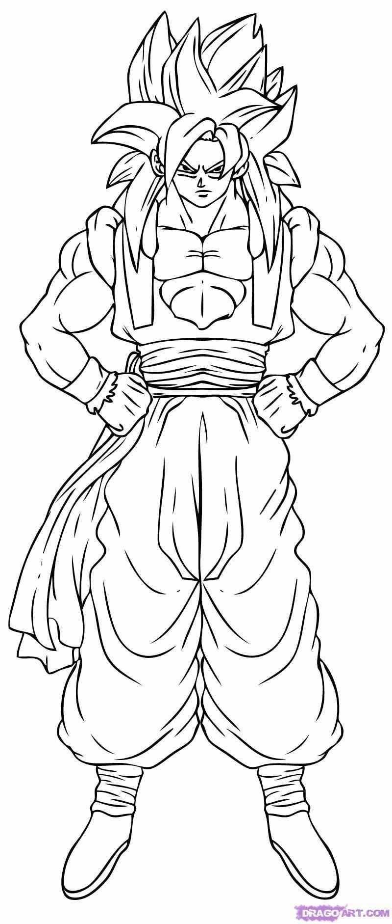 Dragon Ball Z Coloring Pages Goku Super Saiyan 3 Collection