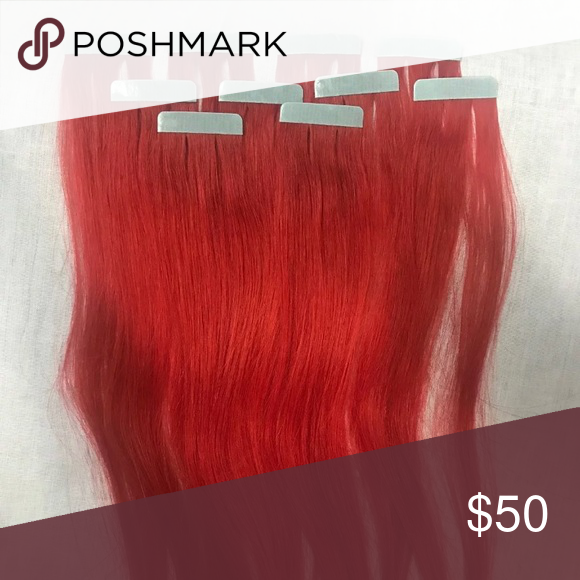 Bright Red Tape Hair Extensions 10 Piece 25g New Nwt Pinterest