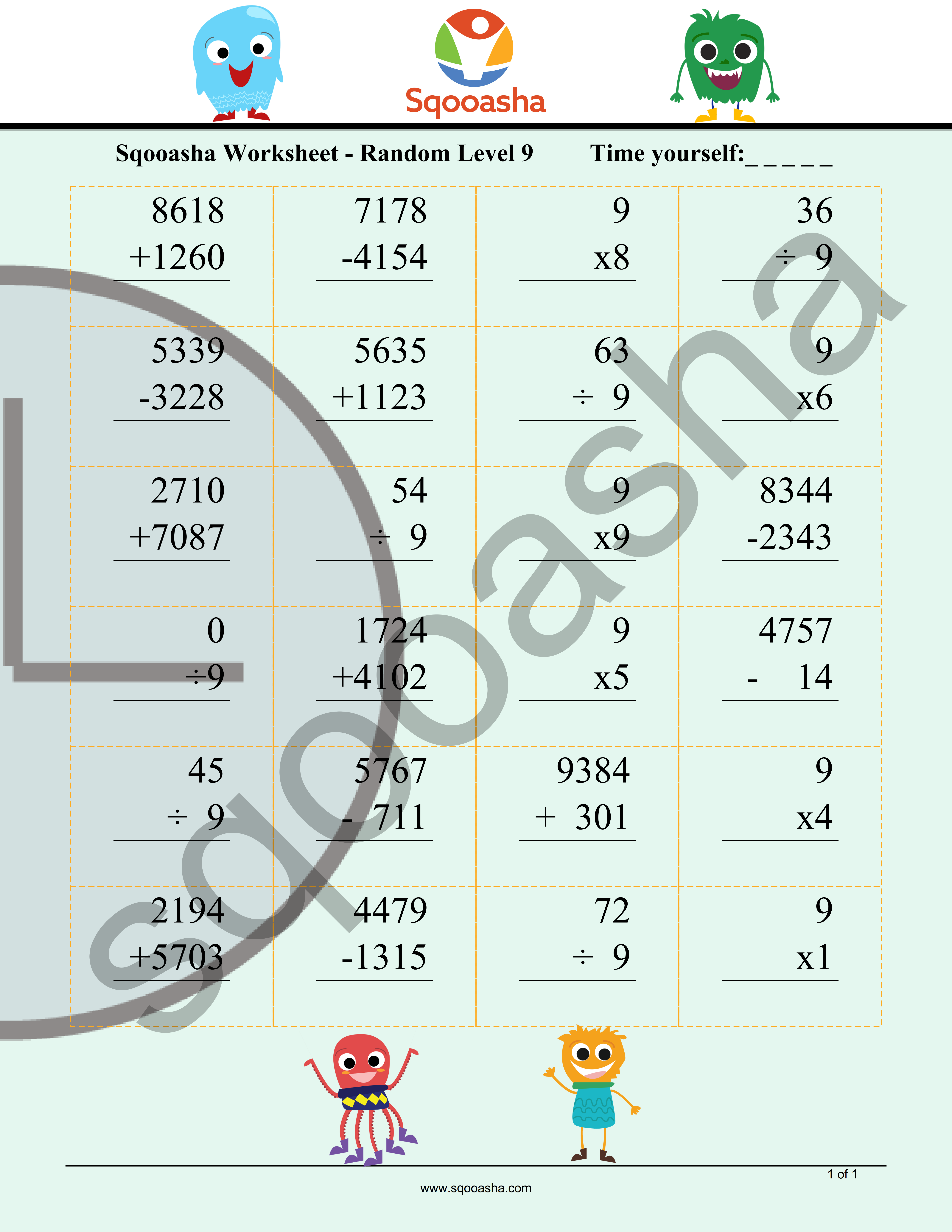 Need To Practice More Math Try Sqooasha S New Daily