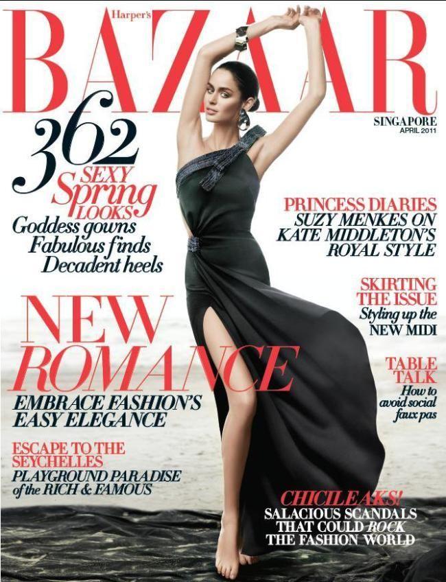 Nicole Trufino - Harper's Bazaar Singapore April 2011