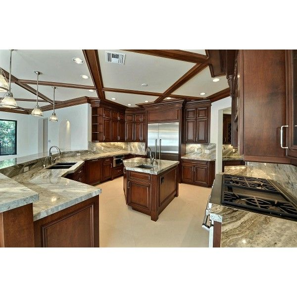 Traditional Kitchen With Fantasy Brown Quartzite