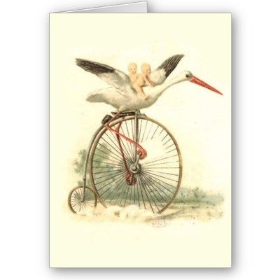 Vintage New Baby Greeting Card  A very different and gorgeous card for a new…