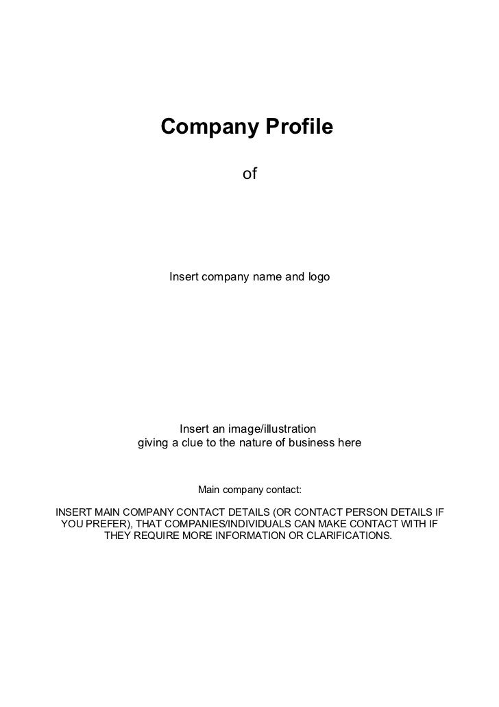 business-company-profile-template by Alistercrowe via Slideshare - how to make business profile