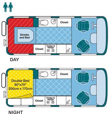 RV Floor Plan Traveling Van Pinterest Search Motorhome