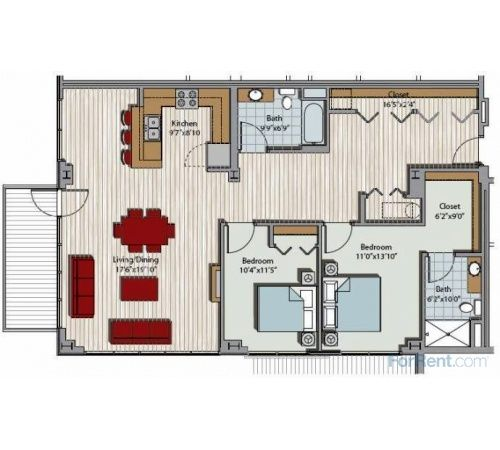 You Ll Know Exactly How Our Apartments Are Laid Out With These Floor Plan Models Apartments For Rent Floor Plans Milwaukee Apartments