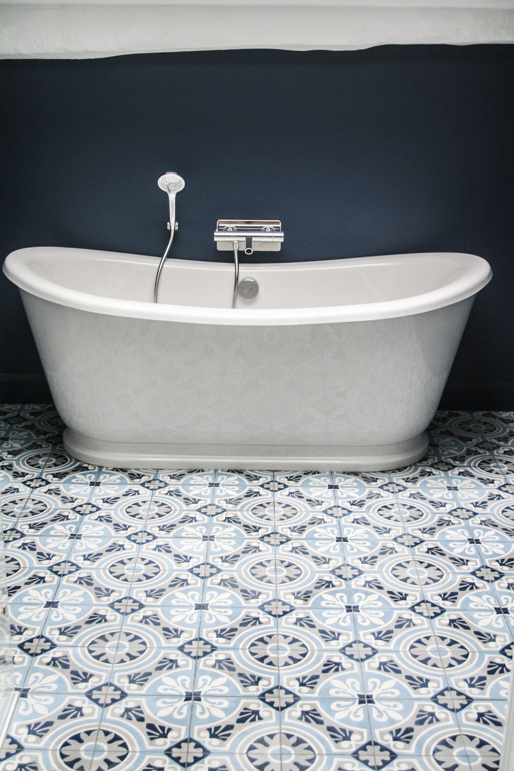 zementfliese von couleurs mari res dekor cercle 20x20 1 5 cm cementtiles by southern. Black Bedroom Furniture Sets. Home Design Ideas