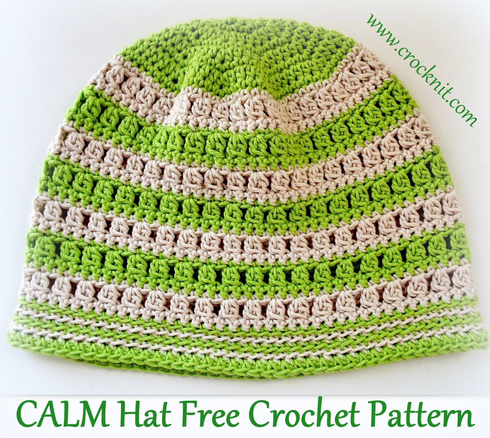CALM Hat Free Crochet Pattern | Crochet shop | Pinterest | Gorros ...