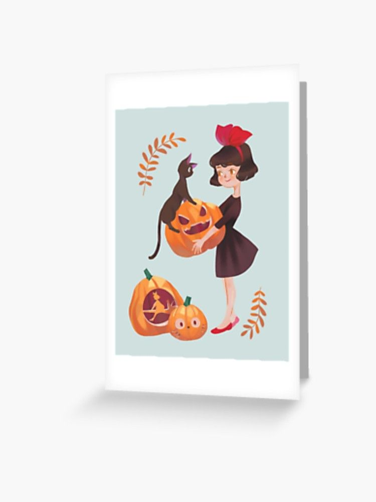 Kiki S Delivery Service Greeting Card By Opsci Redbubble Kiki Delivery Halloween Greeting Card Kiki S Delivery Service