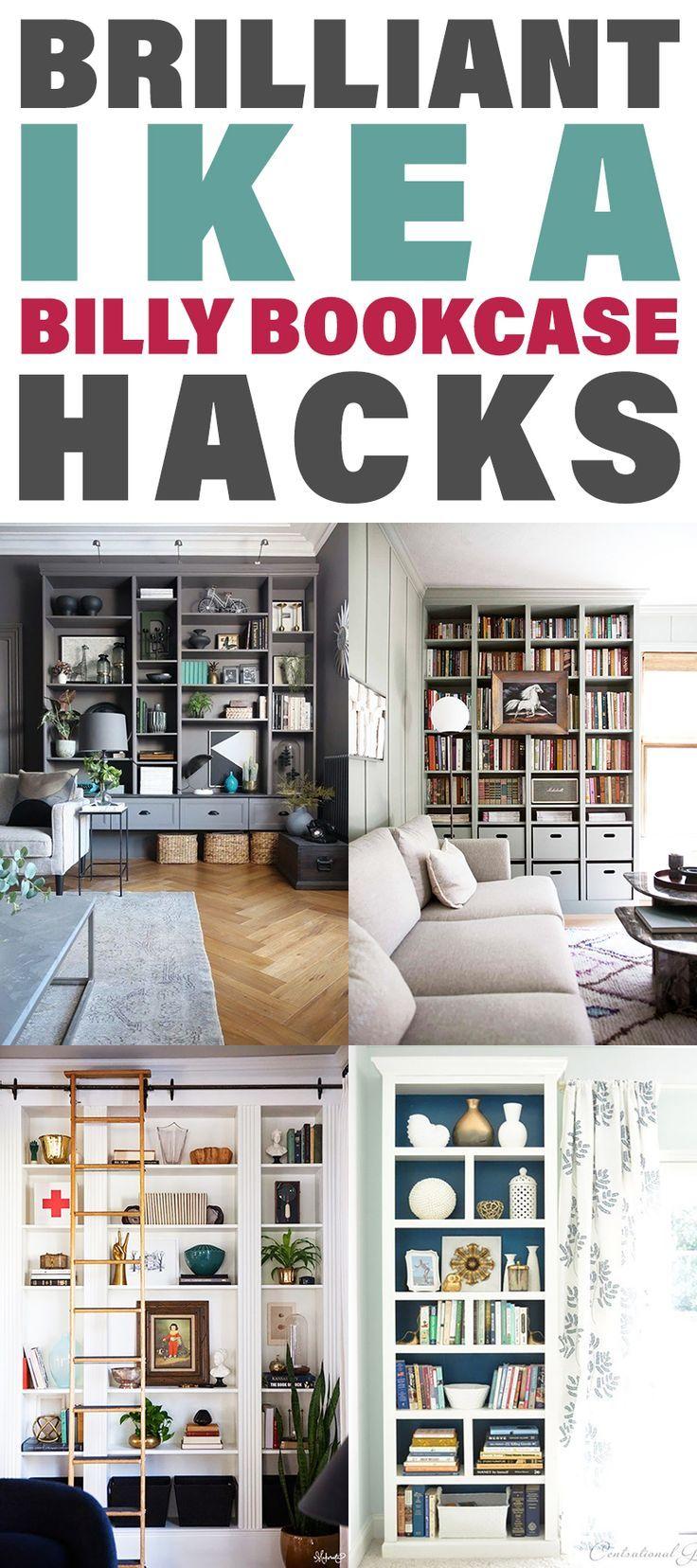 Brilliant IKEA Billy Bookcase Hacks images