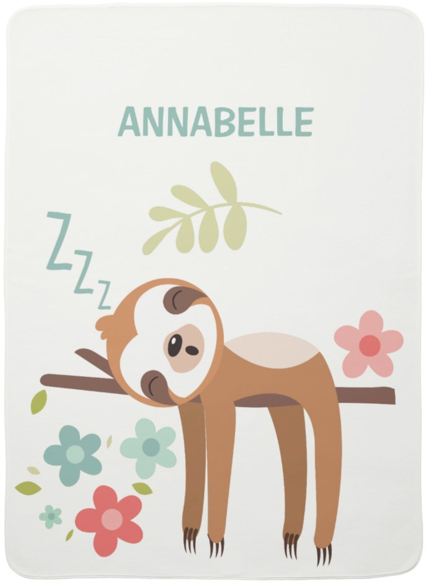 eb8eaf84a Cute Sloth Illustration Swaddle Blanket Animals by JunkyDotCom - An  illustration of a more than cute sloth lazy hanging in a tree