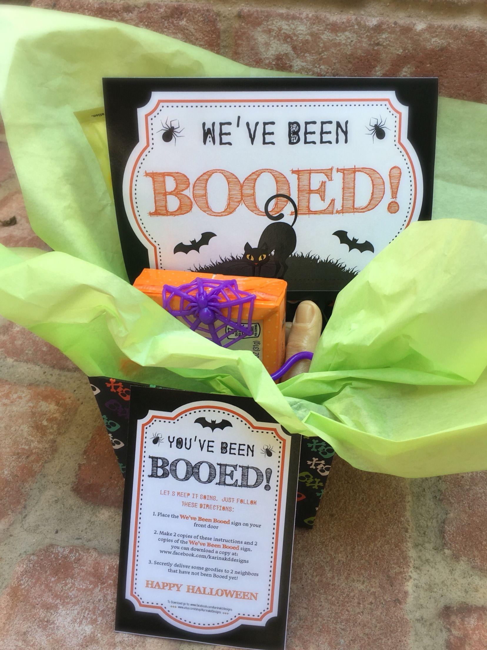 You've been Booed Halloween Printable!!!