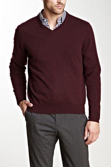 Cullen & Urban Camo V-Neck Cashmere Sweater