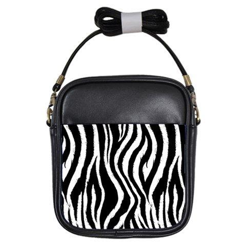 Zebra Pattern Girls Sling Bag