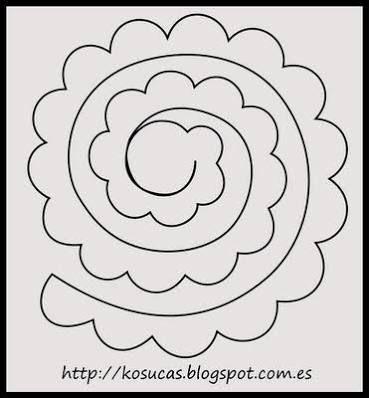 Resultado de imagen para moldes en fieltro de flores