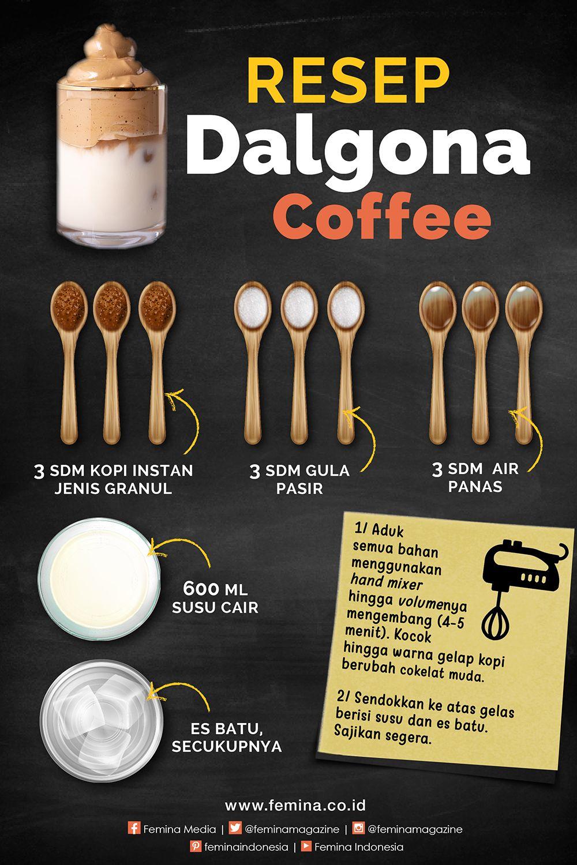 Demam Dalgona Coffee Challenge Ini Resepnya Resep Kopi Makanan Buatan Sendiri Resep Makanan