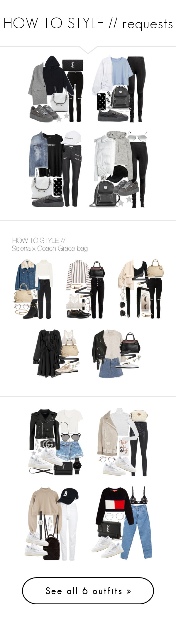 """HOW TO STYLE // requests"" by florencia95 ❤ liked on Polyvore featuring Isabel Marant, STELLA McCARTNEY, Puma, Yves Saint Laurent, Diamond Star, Zadig & Voltaire, Versace, Sacai, Anine Bing and Ray-Ban"