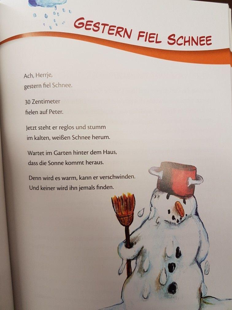 Gestern Fiel Schnee Schnee Winter Kita Kindergarten Erzieher Reim Gedicht Krippe Gedicht Winter Kinder Gedichte Gedichte Fur Kinder