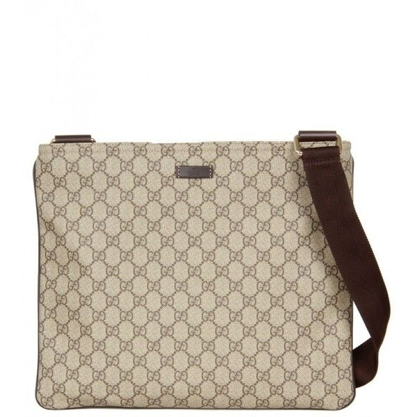 Gucci Beige Canvas Large Messenger Bag (37.500 RUB) ❤ liked on Polyvore featuring men's fashion, men's bags, men's messenger bags, bags, mens canvas messenger bag and gucci mens messenger bag