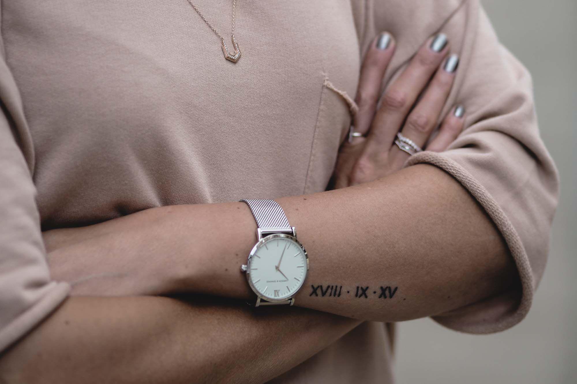 roman numerals wedding date arm tattoo, small tattoos | Tatoo Ideas ...