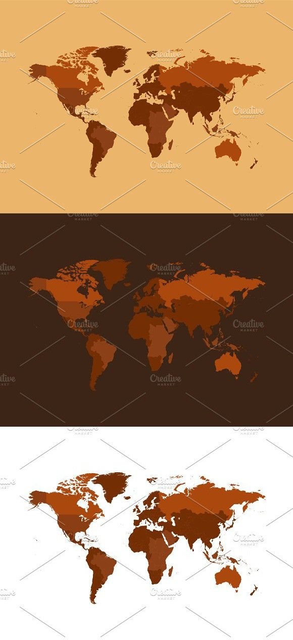 Isolated g world map brown png world map brown gumiabroncs Gallery