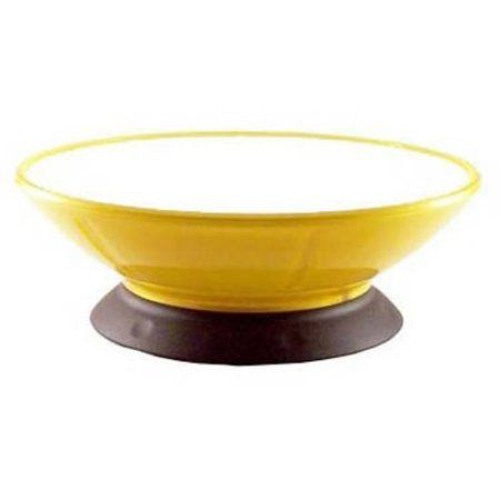 Modapet Some Like it Hot Pedestal Pet Bowl, 2 Cups/473 ml, 6.5 inch x 6.5 inch x 2.25 inch, Yellow