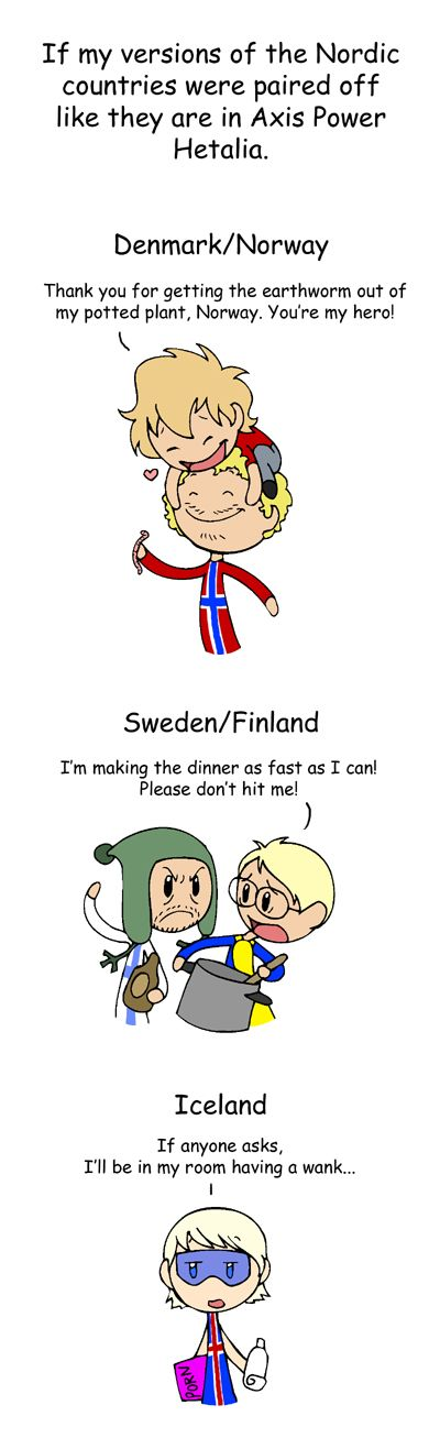 If It Was Hetalia Scandinavia And The World Satw Comic Hetalia Funny Comics