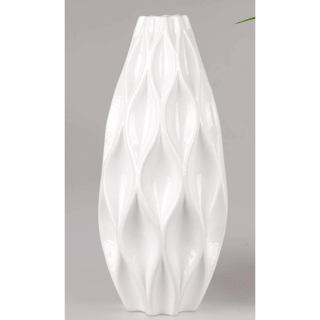 Formano Online Shop Formano Decorative Floor Vase With Diamond Relief Conical Round