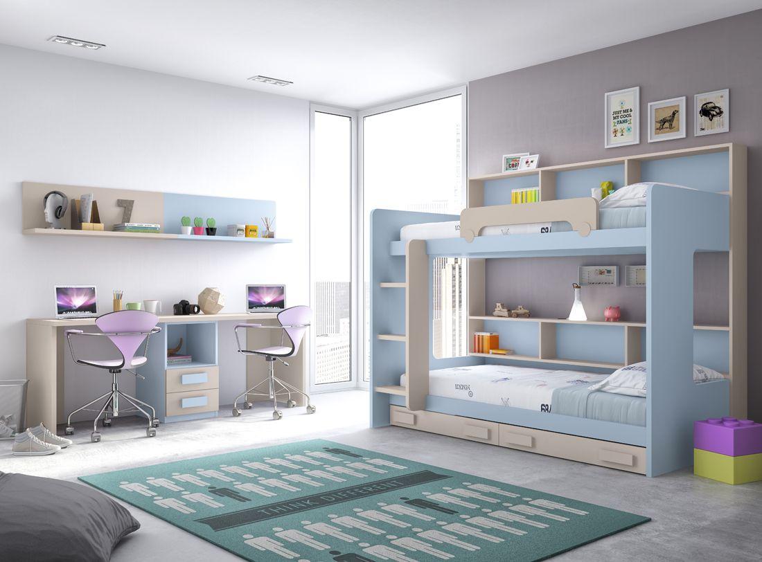 ¿Compartir habitación para los más pequeños de la casa? La solución perfecta es una #litera. Elige tu propuesta perfecta en tu tienda #Merkamueble.