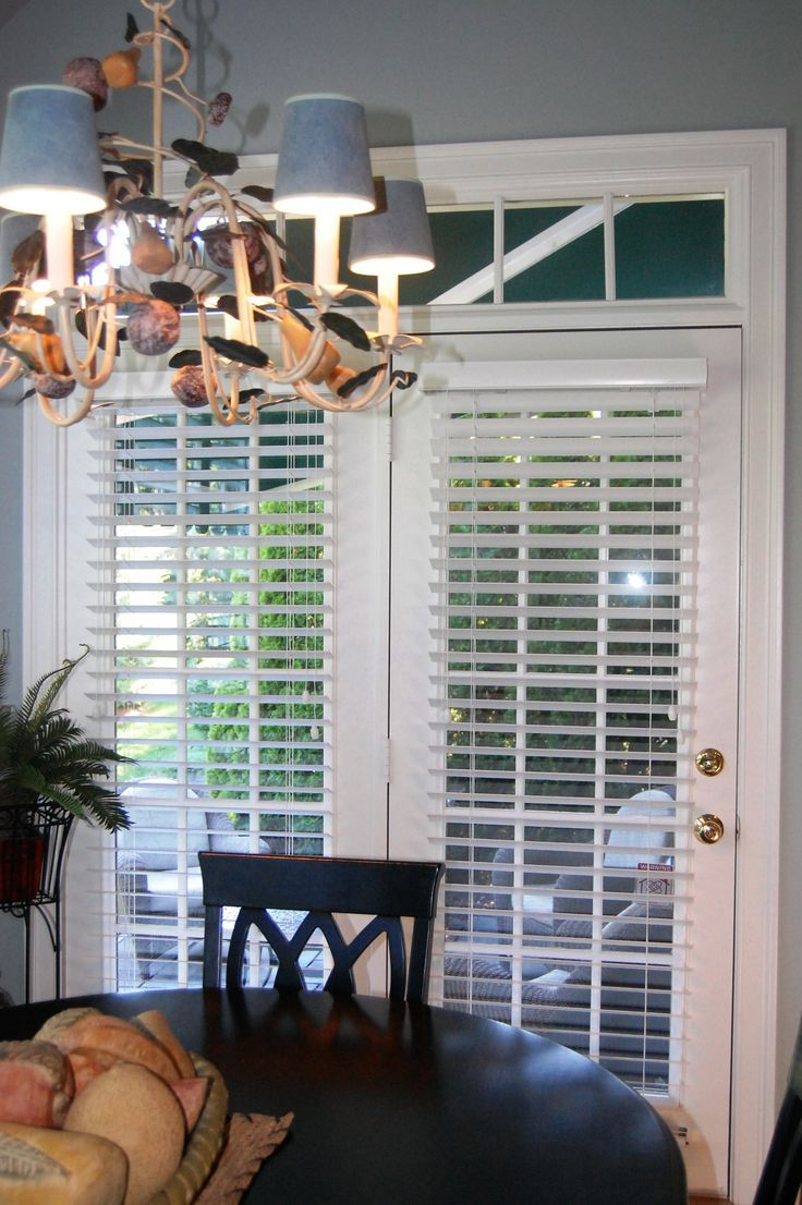 2 Quot Horizontal Blind Blinds For French Doors French Door