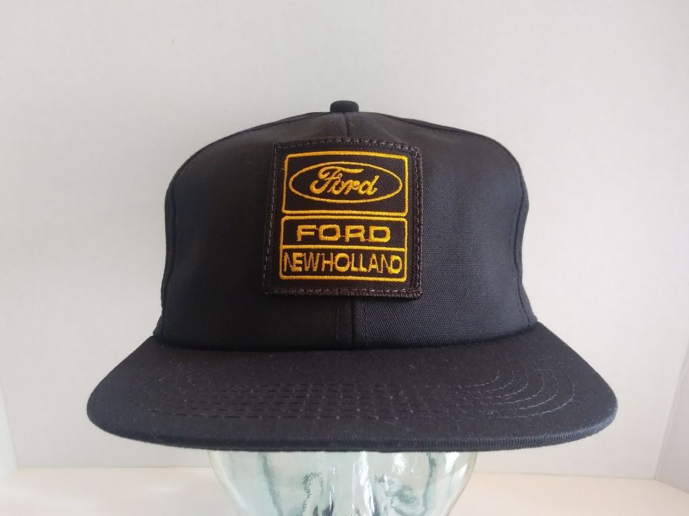 2fe513f226ee7 VTG Ford New Holland Hat Logo Patch Snapback Cap K-Products USA Farm  Tractor NOS