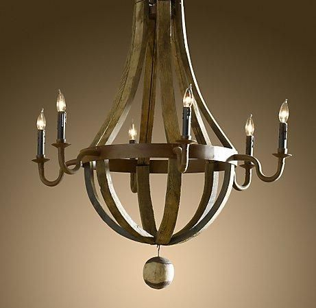 Wine Barrel 6 Arm Chandelier Lighting