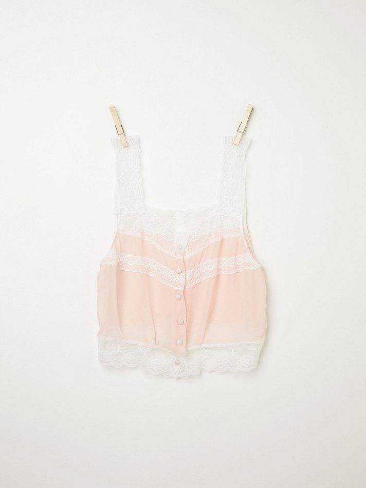 Free People Vintage Lace Cami, $19.95