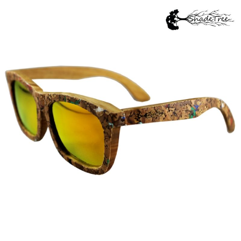 7b9a97bd88b Go for the Gold! Find the Cork Confetti sunglasses in Verawood frame ...